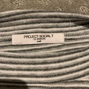 Project Social T - long sleeve striped shirt S